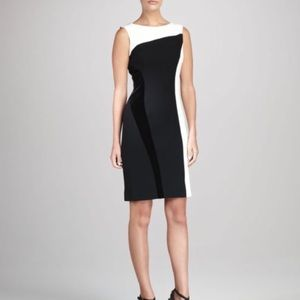 Teri Jon Colorblock Velvet Sheath Dress 16 NWT